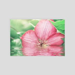 Water Flower 4' X 6' Rug