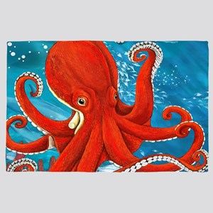 Octopus Painting 4' X 6' Rug