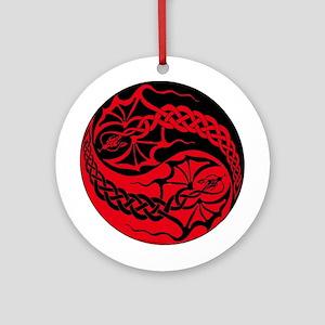 Celtic Dragon Yin-yang Ornament (Round)