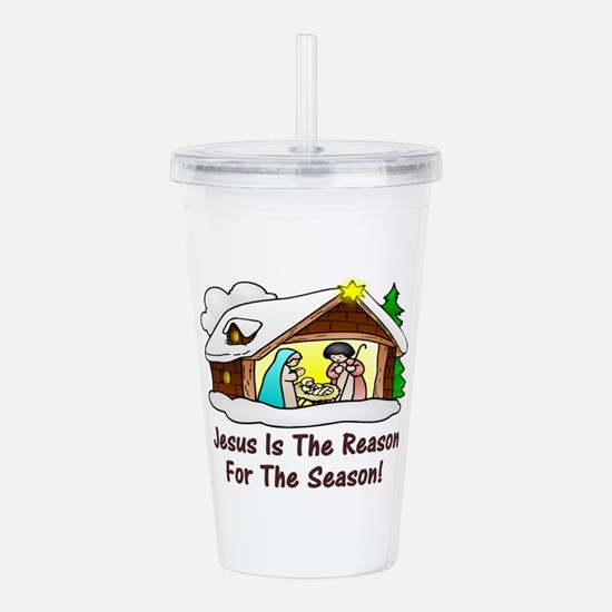Jesus is the reason fo Acrylic Double-wall Tumbler