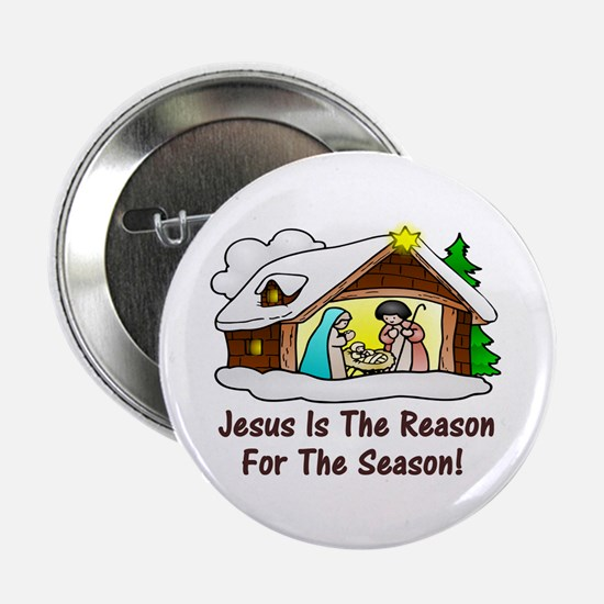 "Jesus is the reason for th 2.25"" Button (100 pack)"