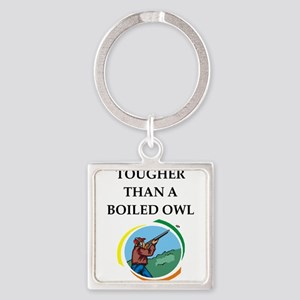 trap shooting joke Keychains
