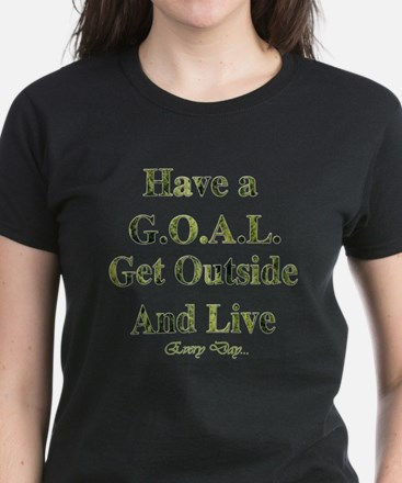 GOAL - Get Outside And Live Women's Dark T-Shirt