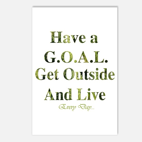 GOAL - Get Outside And Live Postcards (Package of