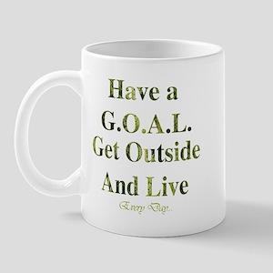 GOAL - Get Outside And Live Mug