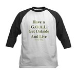 GOAL - Get Outside And Live Kids Baseball Jersey