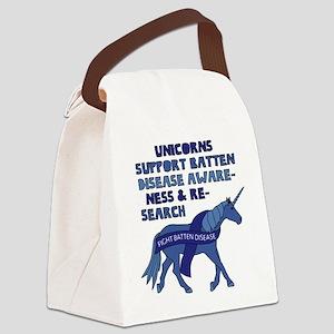 Unicorns Support Batten Disease A Canvas Lunch Bag