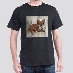 Fox Resting Design Dark T-Shirt