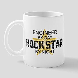 Engineer Rock Star by Night Mug