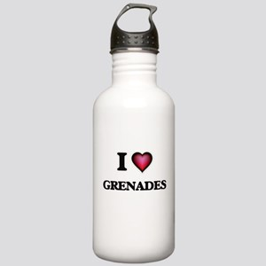 I love Grenades Stainless Water Bottle 1.0L