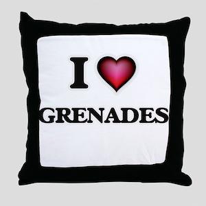 I love Grenades Throw Pillow