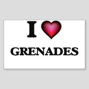I love Grenades Sticker