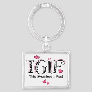 TGIF Fun Grandma Landscape Keychain