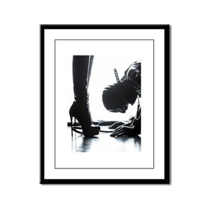 Male Submissive Framed Panel Print