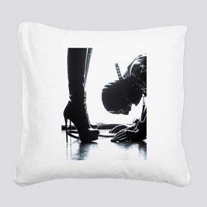 Male Submissive Square Canvas Pillow
