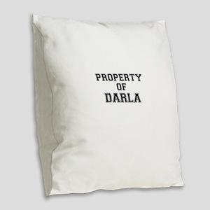 Property of DARLA Burlap Throw Pillow