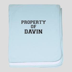 Property of DAVIN baby blanket