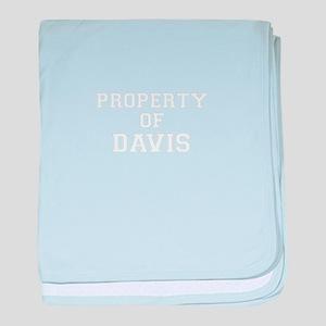Property of DAVIS baby blanket