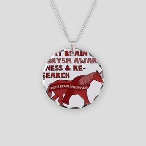 Unicorns Support Brain Aneur Necklace Circle Charm