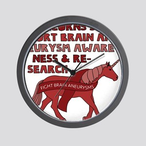 Unicorns Support Brain Aneurysm Awarene Wall Clock