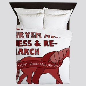 Unicorns Support Brain Aneurysm Awaren Queen Duvet