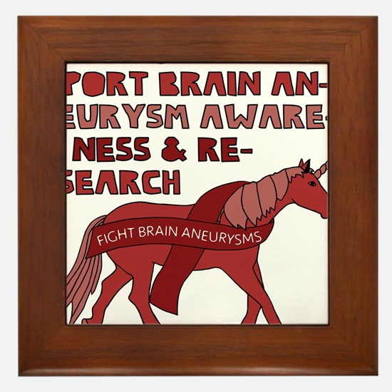 Unicorns Support Brain Aneurysm Awaren Framed Tile