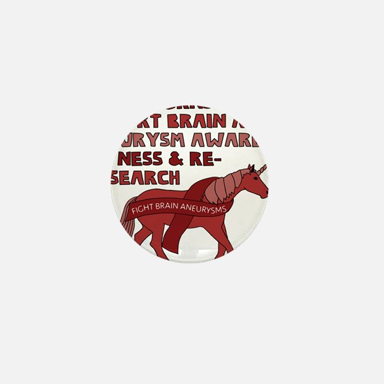 Unicorns Support Brain Aneurysm Awaren Mini Button
