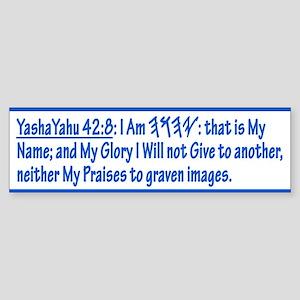 YashaYahu 42:8 Bumper Sticker