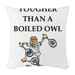 Tennis joke Woven Throw Pillow