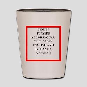 Tennis joke Shot Glass