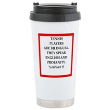 Tennis joke Travel Mug