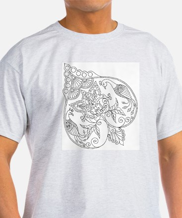 Peacock Romance Color Your Own T-Shirt