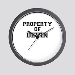 Property of DEVIN Wall Clock