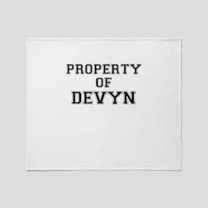 Property of DEVYN Throw Blanket