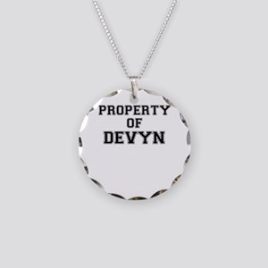 Property of DEVYN Necklace Circle Charm