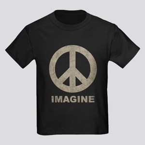 Vintage Imagine Peace Kids Dark T-Shirt
