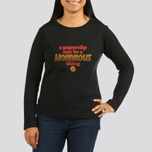Paperclip Women's Long Sleeve Dark T-Shirt