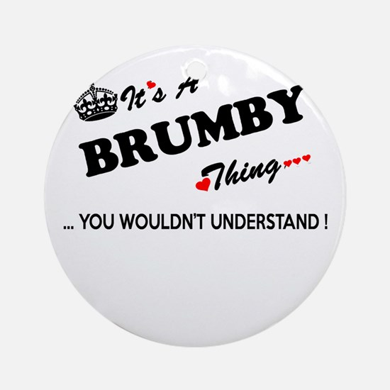 BRUMBY thing, you wouldn't understa Round Ornament