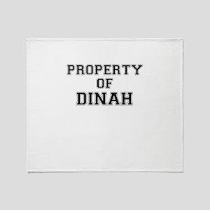 Property of DINAH Throw Blanket