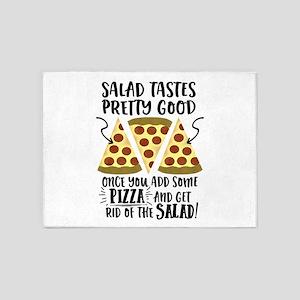 Pizza vs Salad Funny 5'x7'Area Rug