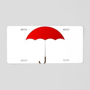 Red Umbrella Aluminum License Plate