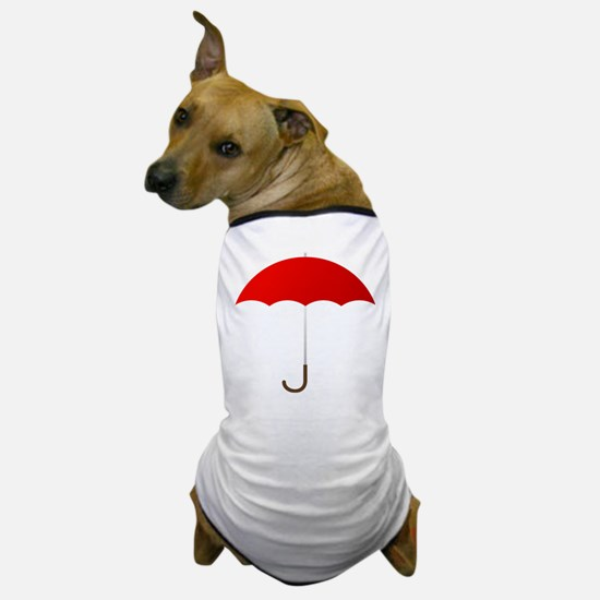 Red Umbrella Dog T-Shirt