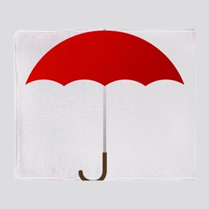 Red Umbrella Throw Blanket