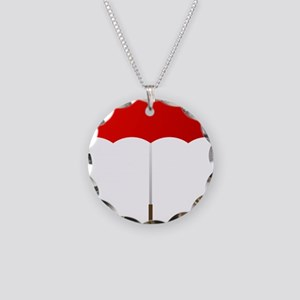 Red Umbrella Necklace