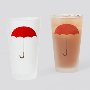 Red Umbrella Drinking Glass