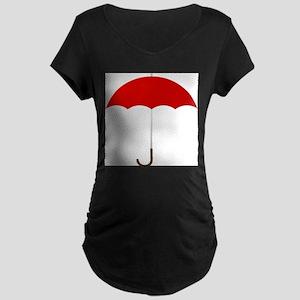 Red Umbrella Maternity T-Shirt