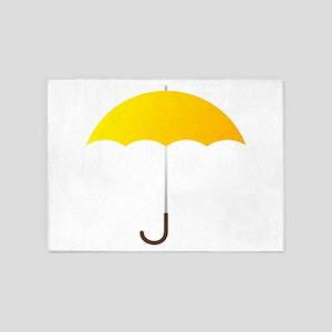 Yellow Umbrella 5'x7'Area Rug