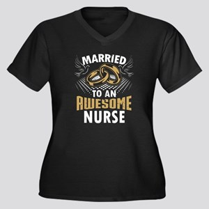 Married To An Awesome Nurse Plus Size T-Shirt