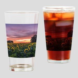 Kansas Sunflower Sunrise Drinking Glass