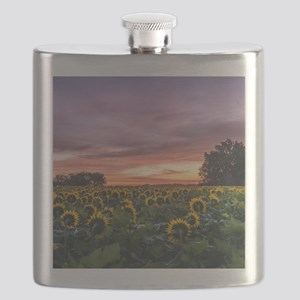 Kansas Sunflower Sunrise Flask